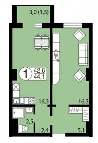 Серебряный, 1 (улица Вильского, 34) - Планировка