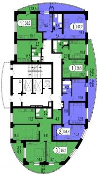Орбита, 3 (4 очередь) - Планировка