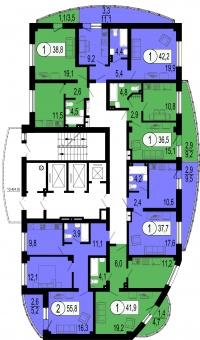 Орбита, д.4 (4 очередь) - Планировка